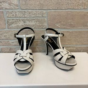 YSL Patent Sandal Platforms